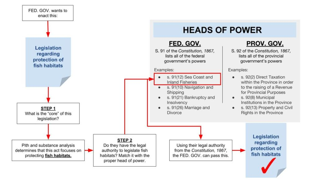Diagram showing constitutional analysis steps.